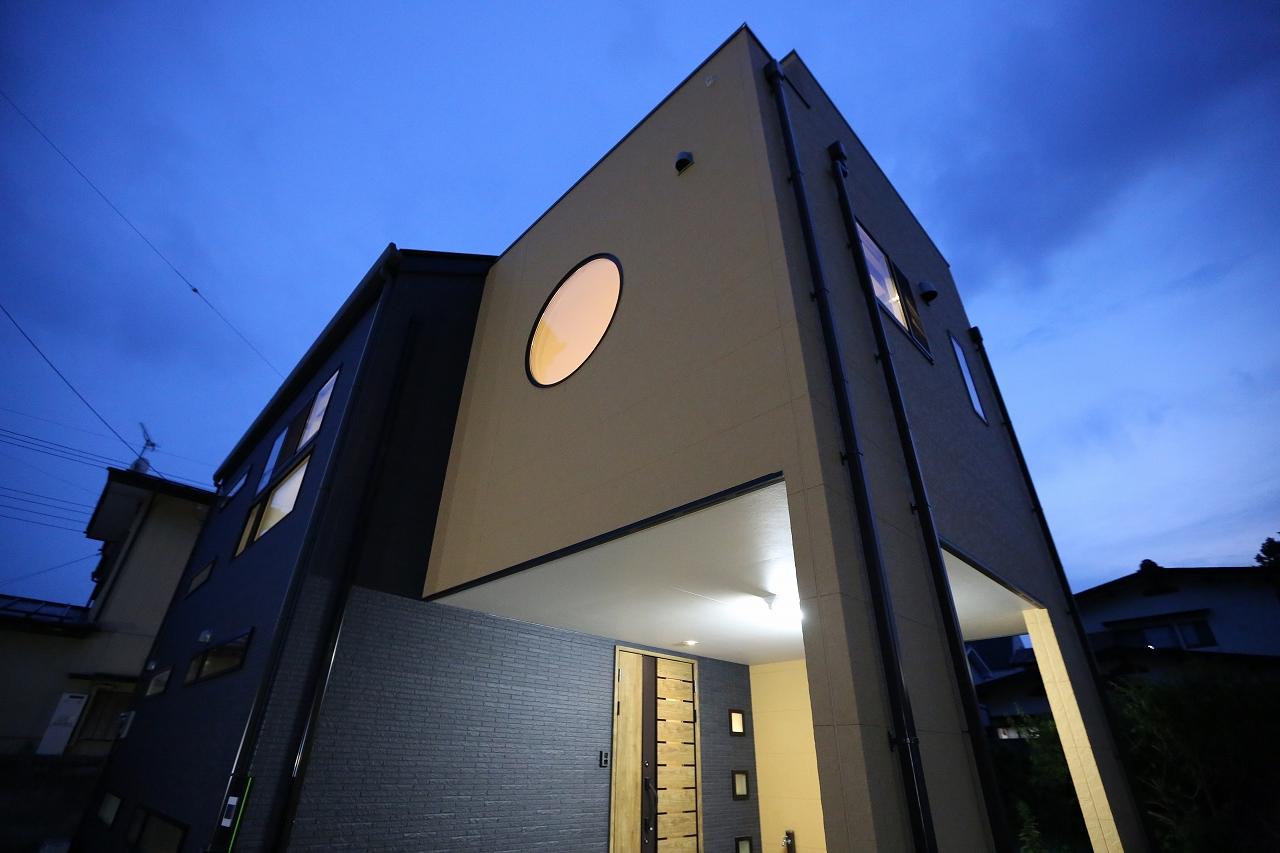 狭小地住宅・スキップフロア・2階リビングの家/栃木県日光市