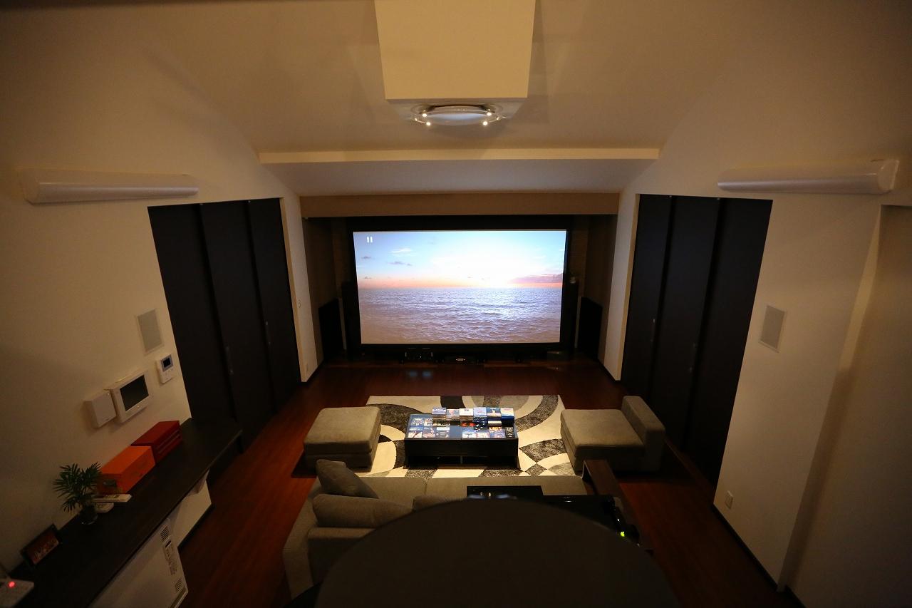 ホームシアター・勾配天井・スキップフロアの家/栃木県栃木市